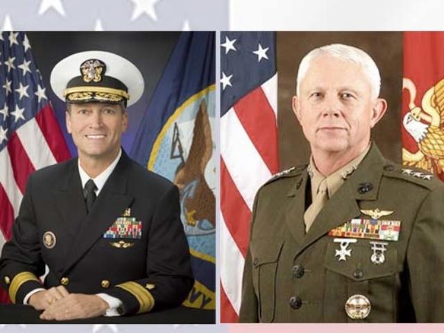 Congressman Ronny Jackson, MD, a retired Navy Admiral and Congressman Jack Bergman,
