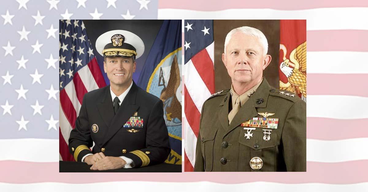 Congressman Ronny Jackson, MD, a retired Navy Admiral and Congressman Jack Bergman